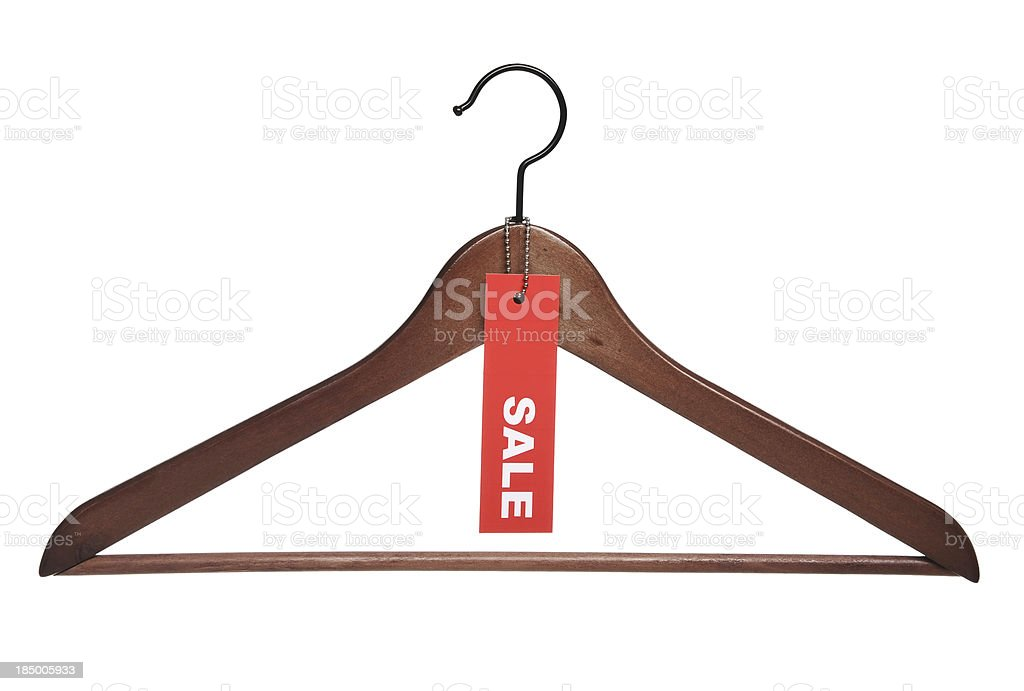 Sale tag and hanger royalty-free stock photo