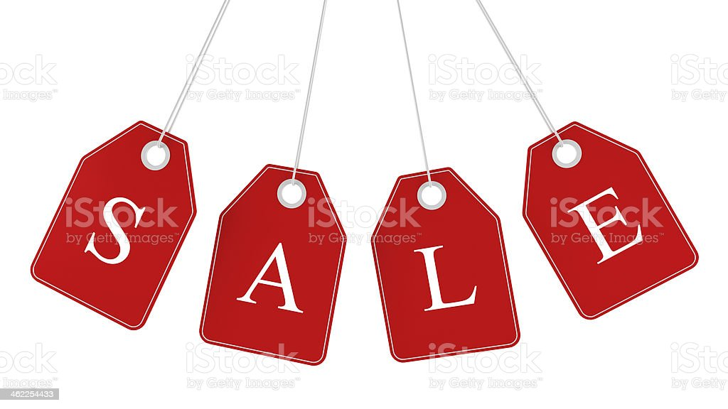 Sale tags isolated stock photo