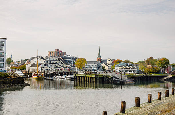 Salem Harbour in Autumn Salem Harbour on a Autumn Cloudy Day, Massachusetts massachusetts stock pictures, royalty-free photos & images