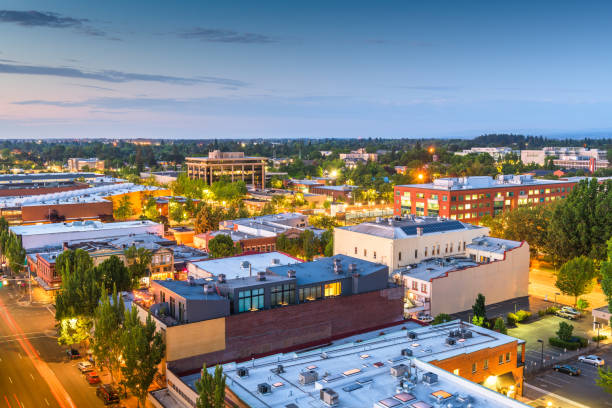 Salem, Oregon, USA downtown city skyline stock photo