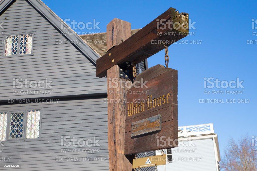 Salem Witch House royalty-free stock photo