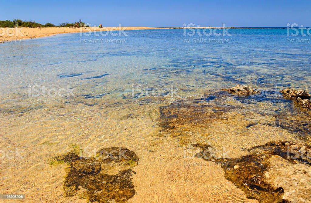 Salento,Porto Cesareo:Nature Reserve Isola Grande (Lecce).- ITALY (Apulia) - stock photo