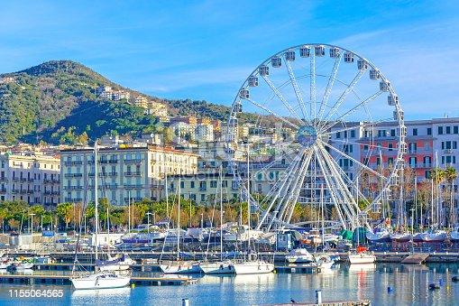 Salerno, city in Campania, south Italy, on the Tyrrhenian Sea, Amalfi coast, Italy with City Eye