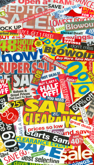 Sales Advertisements Collage