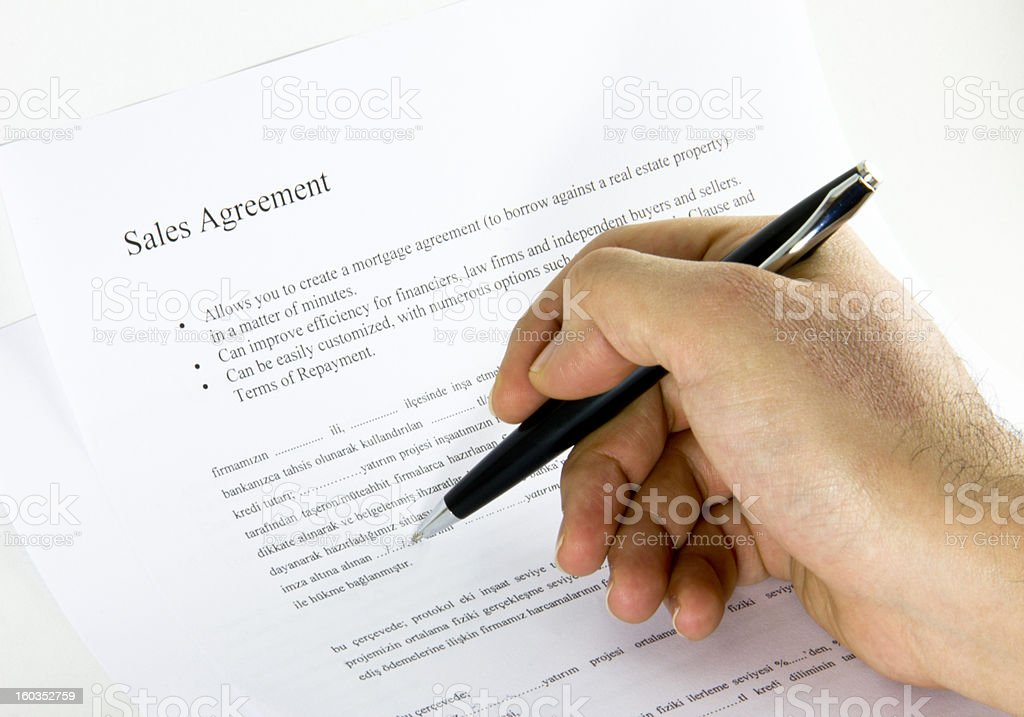 sales agreement royalty-free stock photo