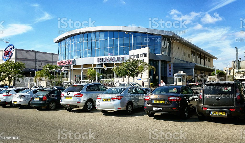 Sales and service center Nissan Renault stock photo