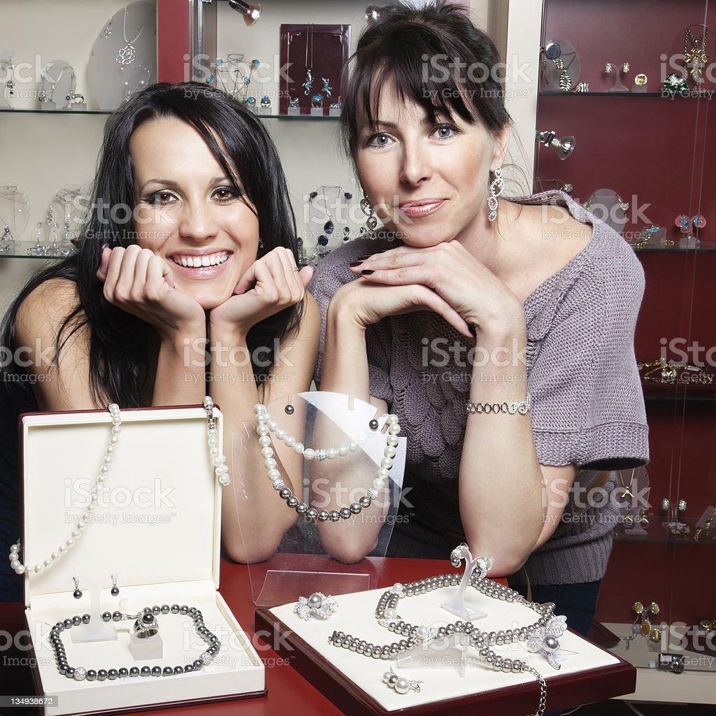 Sales assistants stock photo
