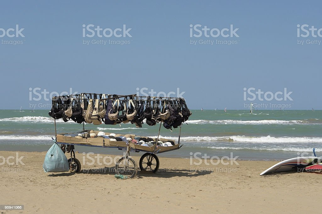 sales booth at the beach royalty-free stock photo