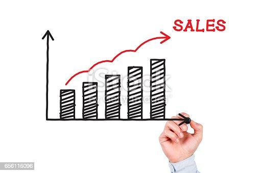 istock Sales Chart Concept 656116096