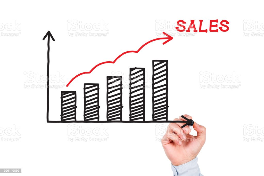 Sales Chart Concept stock photo