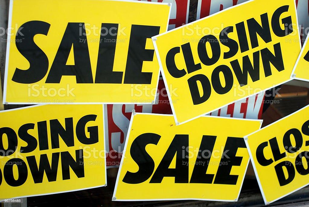 Sales, closing down stock photo
