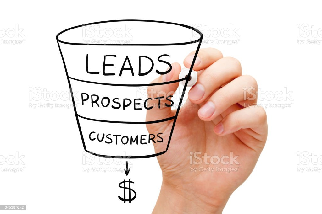 Sales Funnel Business Concept royalty-free stock photo