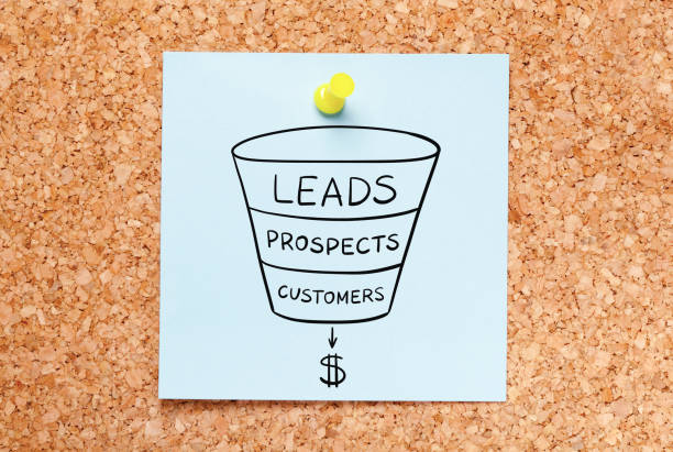 sales funnel leads generation business concept - deaden stock pictures, royalty-free photos & images