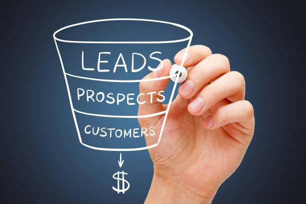 Sales Funnel Marketing Concept stock photo