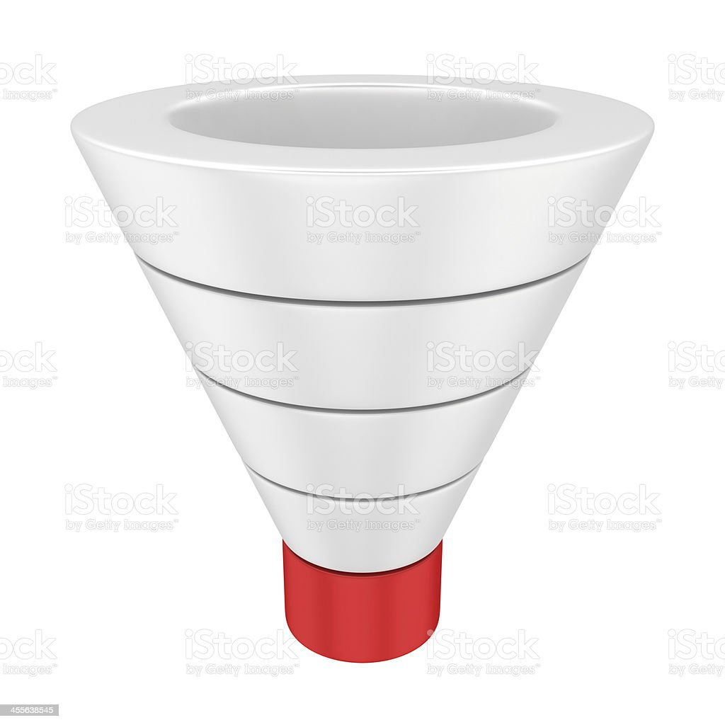 Sales funnel stock photo