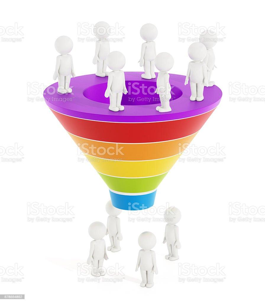 Sales funnel stock photo