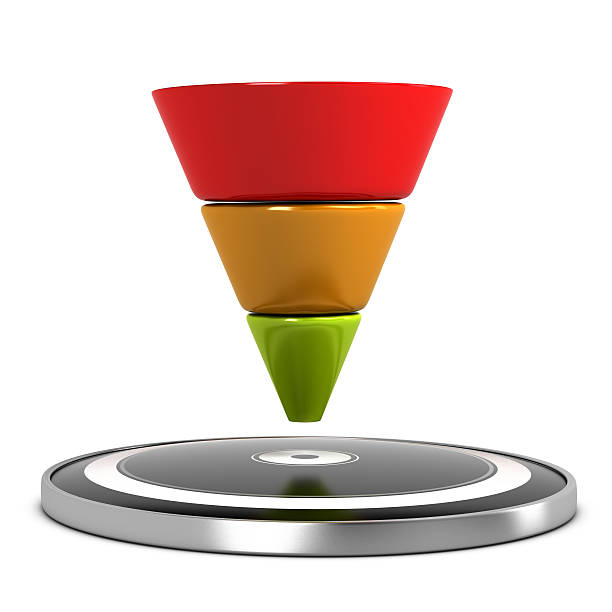 sales funnel - sales funnel stock photos and pictures