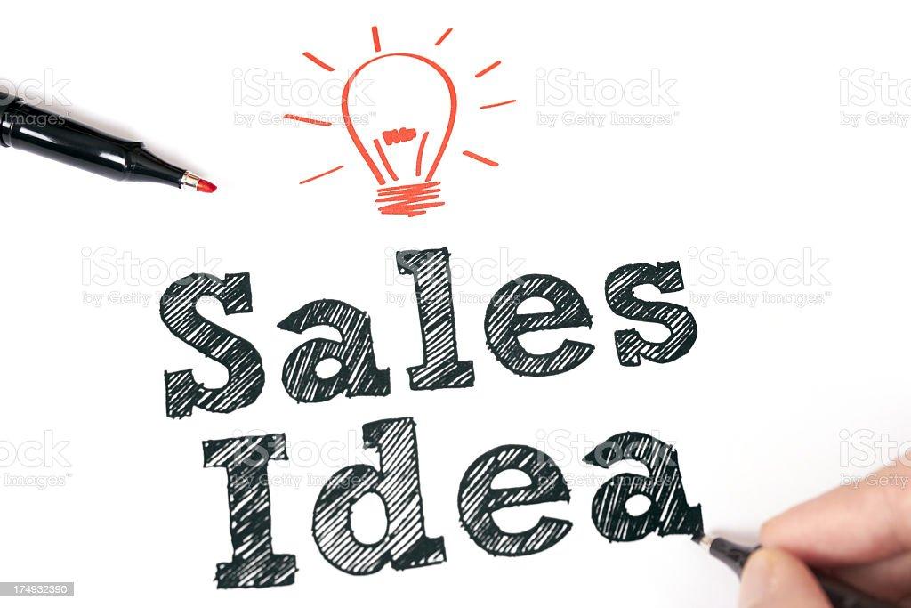 Sales idea royalty-free stock photo