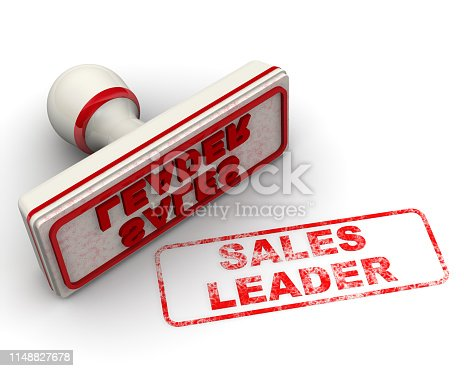 1181637623istockphoto Sales leader. Seal and imprint 1148827678