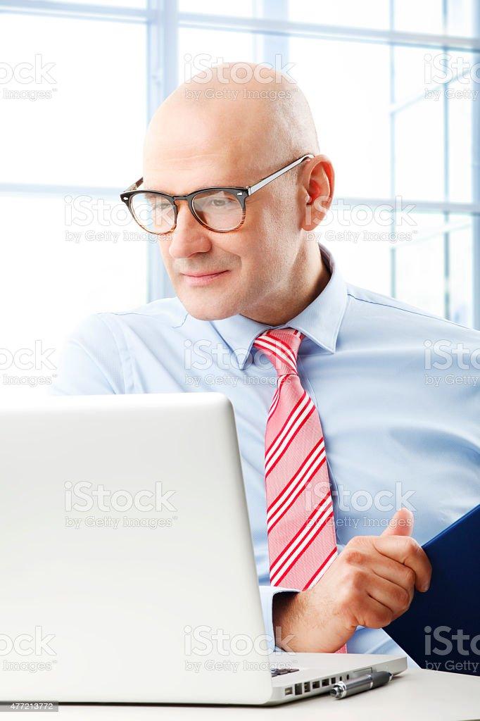 Sales man stock photo