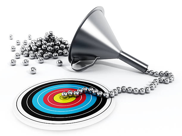 sales / marketing funnel - sales funnel stock photos and pictures