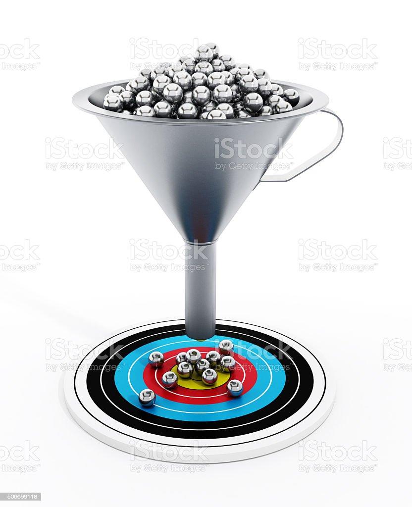 Sales / Marketing funnel stock photo