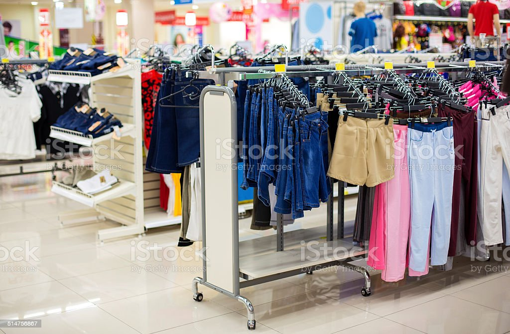 460c6727b7 Sales Of Clothing In The Store Stock Photo & More Pictures of ...