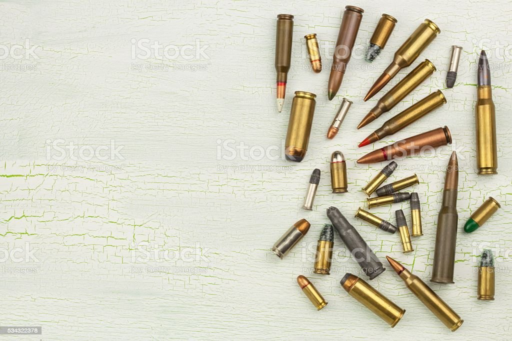Sales of weapons and ammunition. Trade in arms and ammunition stock photo