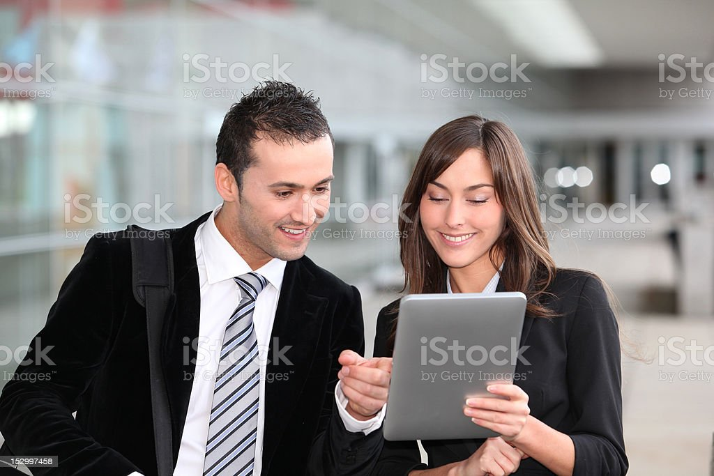 Sales people in business travel royalty-free stock photo
