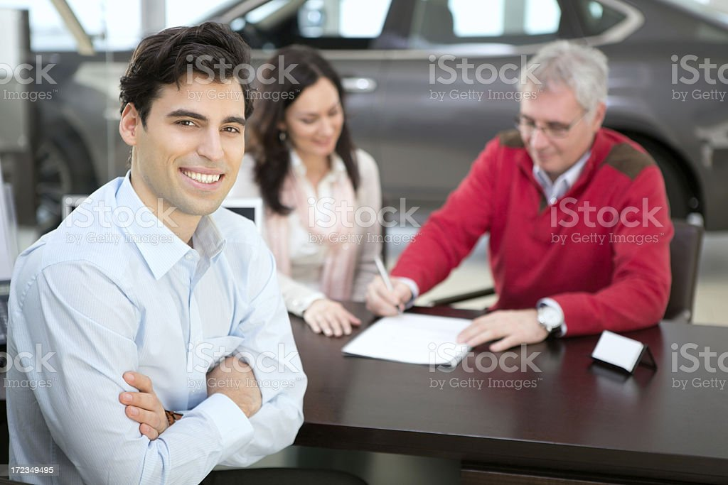 Sales person. royalty-free stock photo