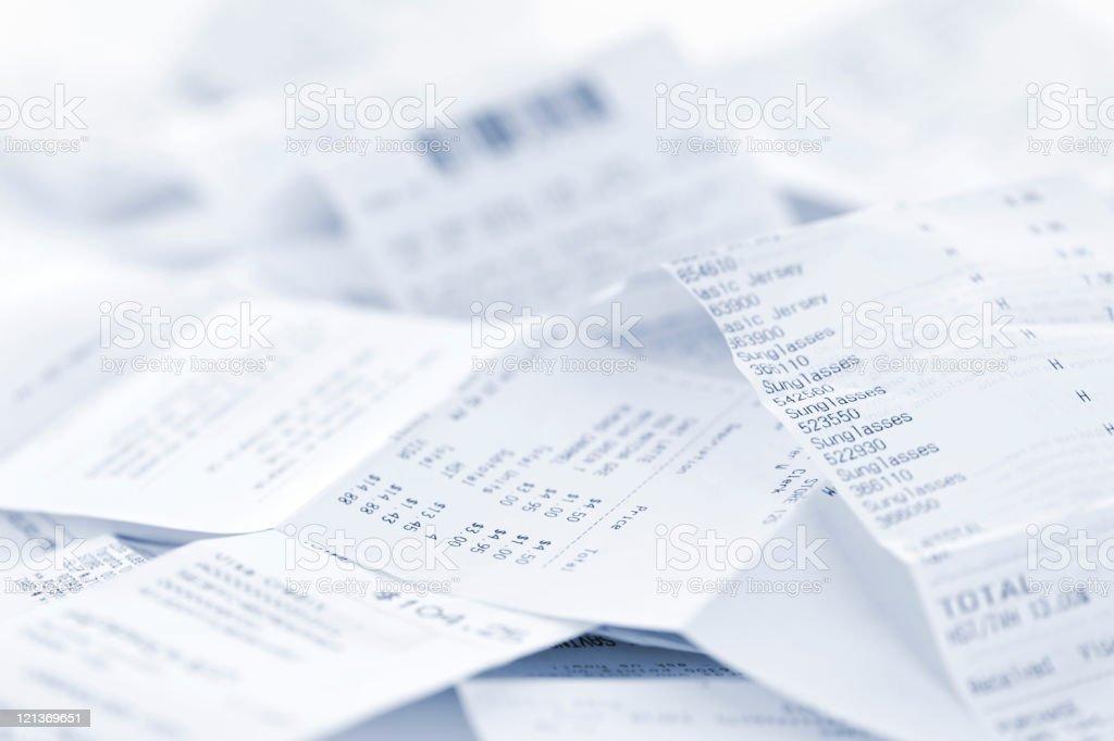 Sales receipts royalty-free stock photo