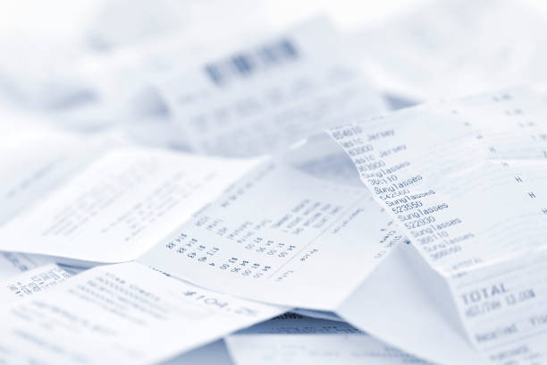 sales receipts - receipt stock photos and pictures