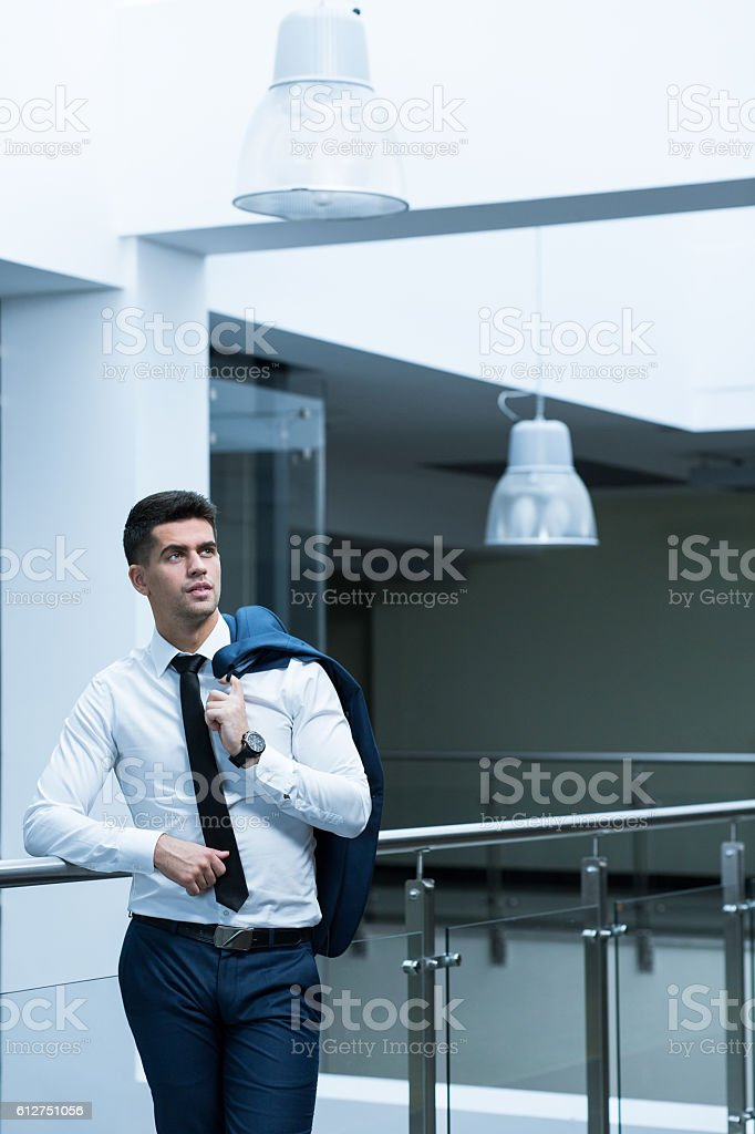 Sales representative in an office building stock photo