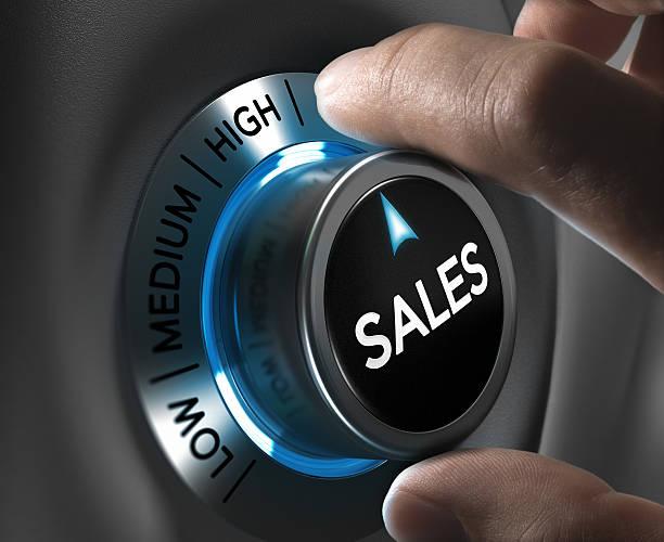 immagine di concetto di strategia di vendita - saldi foto e immagini stock