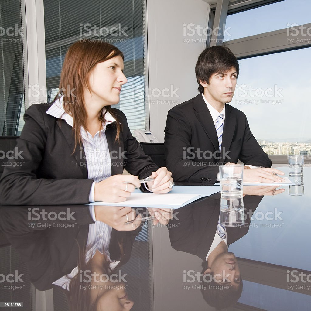 Sales talk between businesspeople royalty-free stock photo