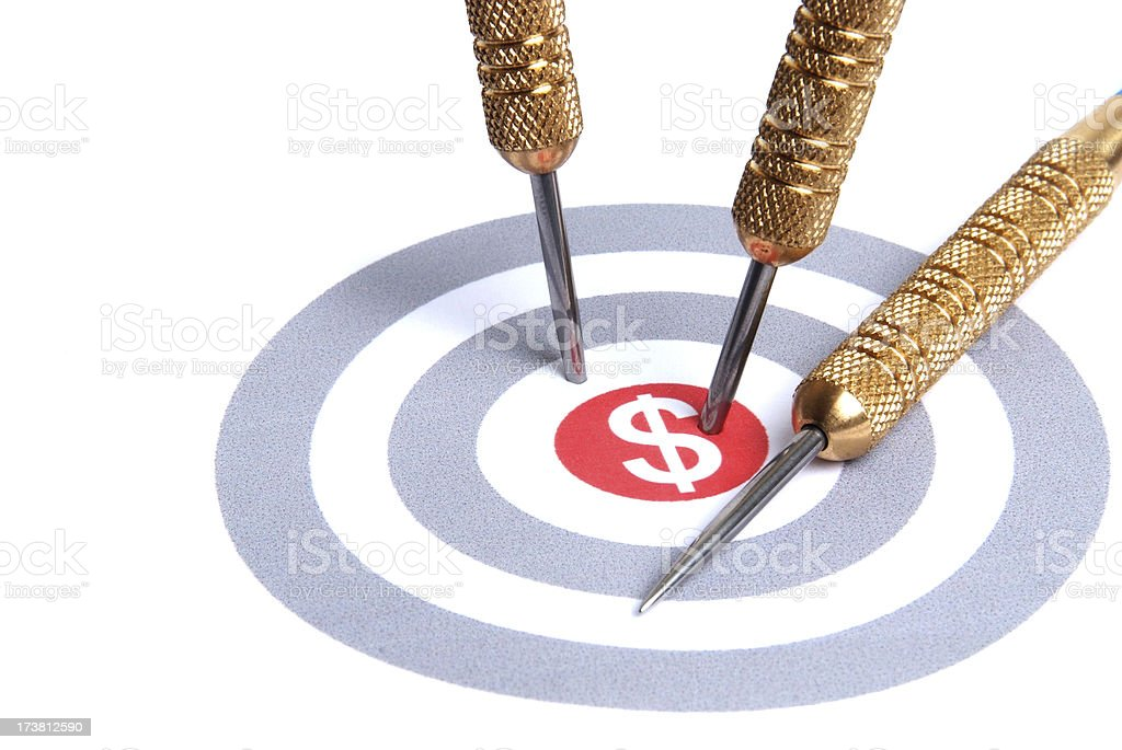 Sales Target royalty-free stock photo