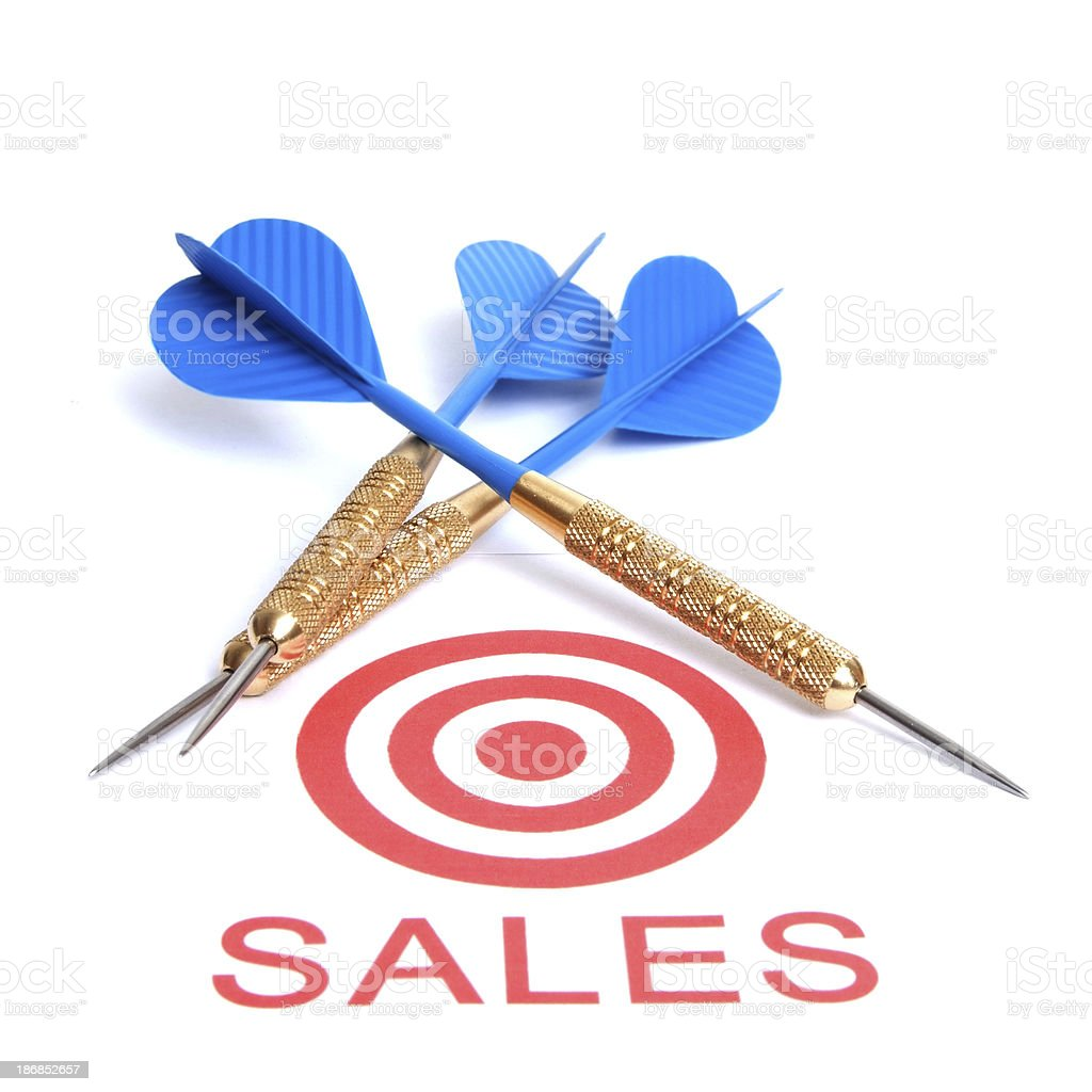 Sales Target royalty-free stock photo