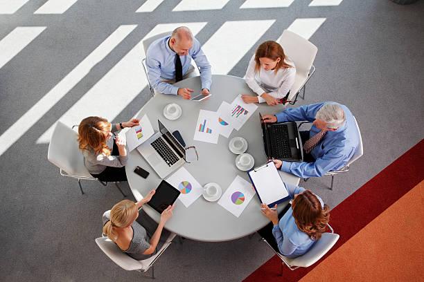 Sales-team bei der Arbeit – Foto
