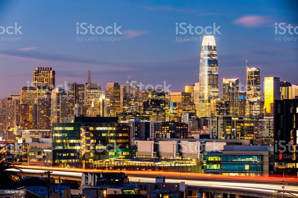Salesforce San Francisco Skyline stock photo