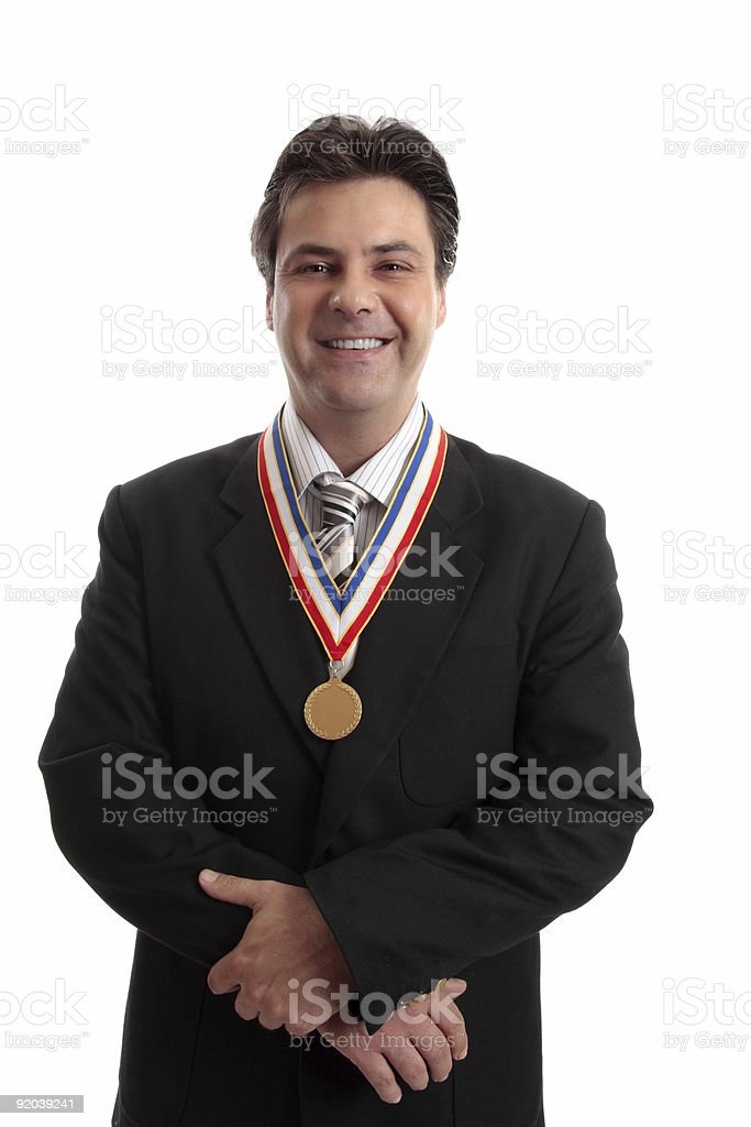 Salesman of the Year royalty-free stock photo