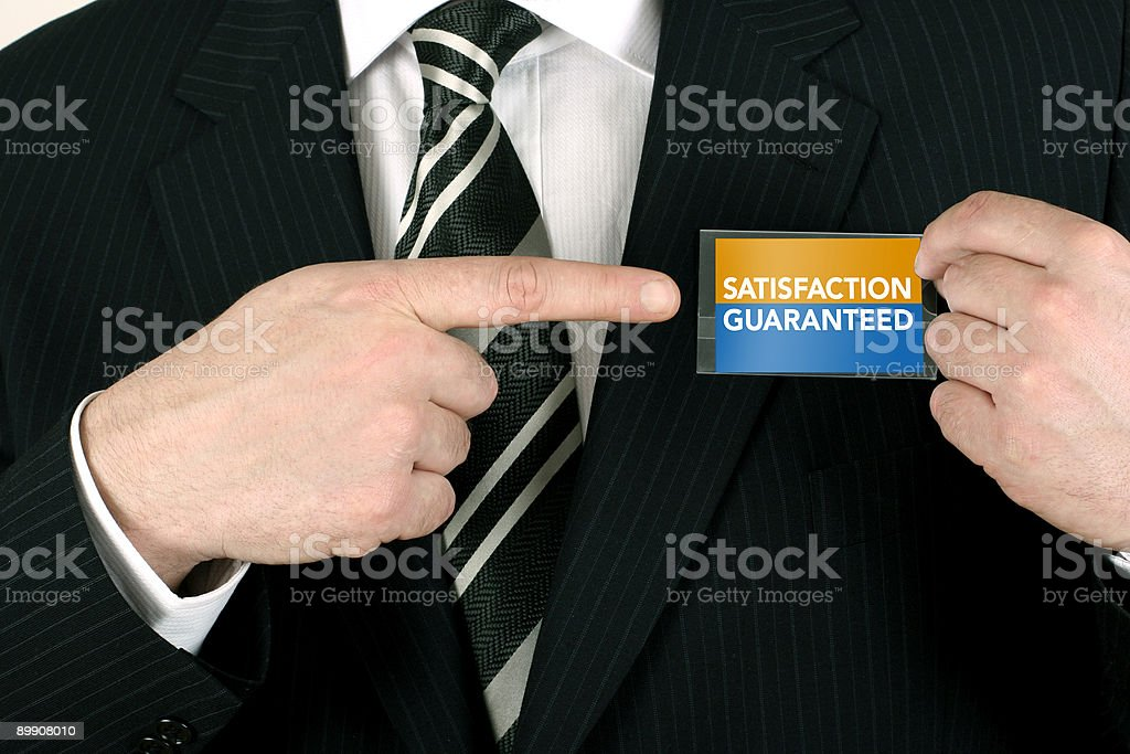 Salesman with a guarantee royalty free stockfoto