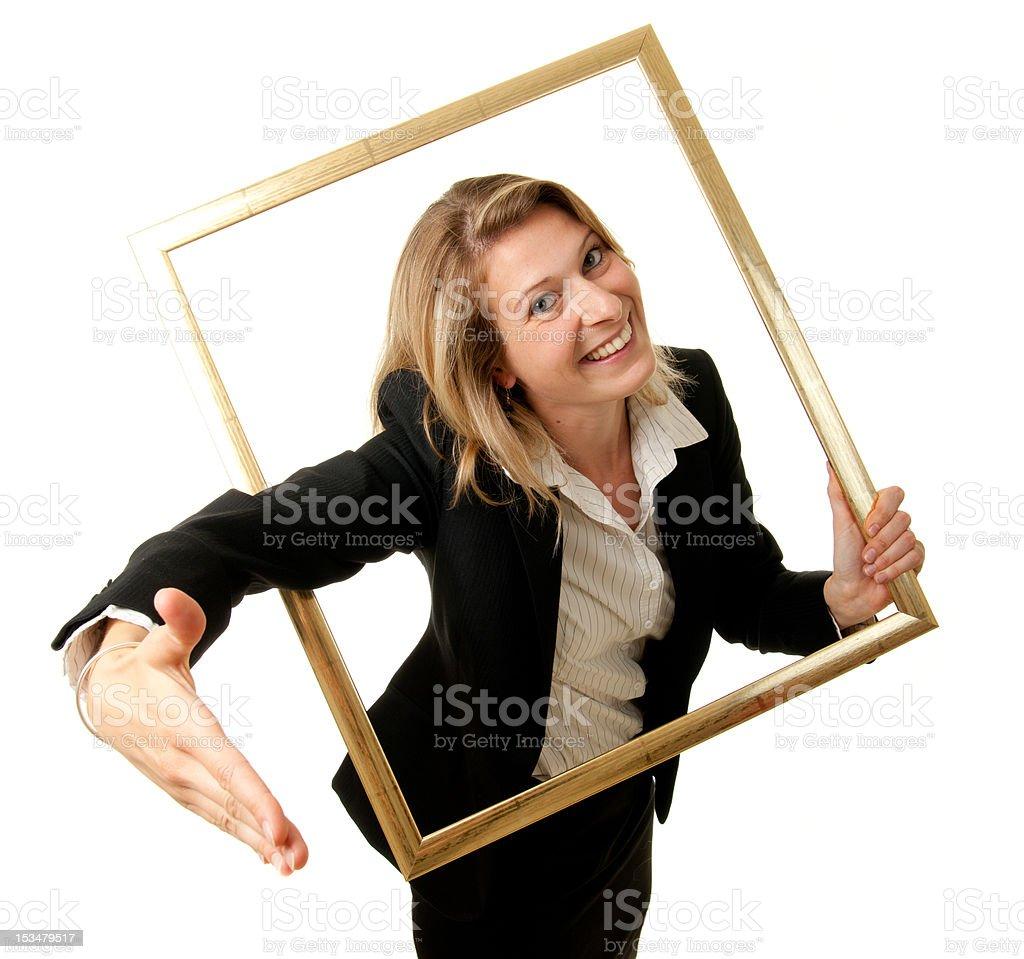 saleswoman contract royalty-free stock photo