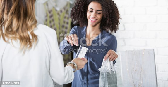istock Saleswoman in boutique 478202789