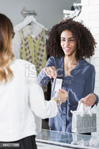 istock Saleswoman in boutique 494277099