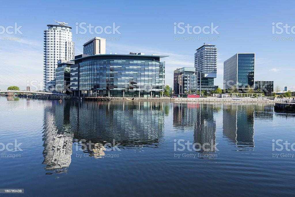 Salford Quays, Manchester, England stock photo