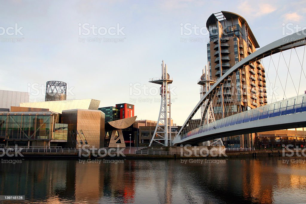 Salford Quays, Manchester royalty-free stock photo
