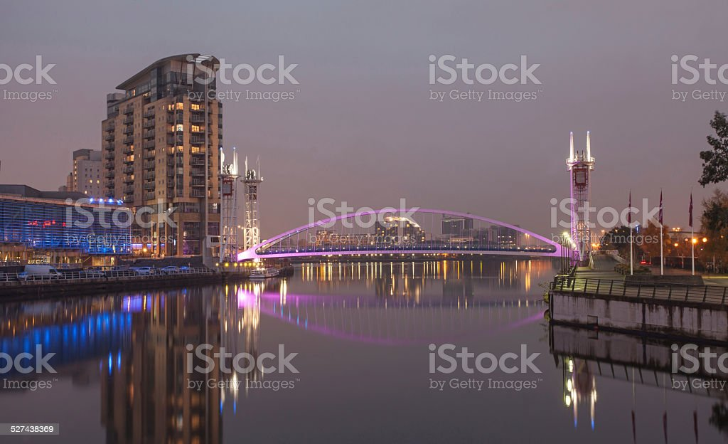 Salford Quays Manchester. Stock Image. stock photo