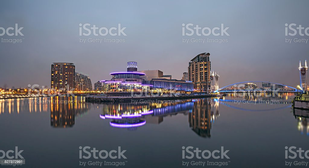 Salford Quays Manchester.Stock Image. stock photo