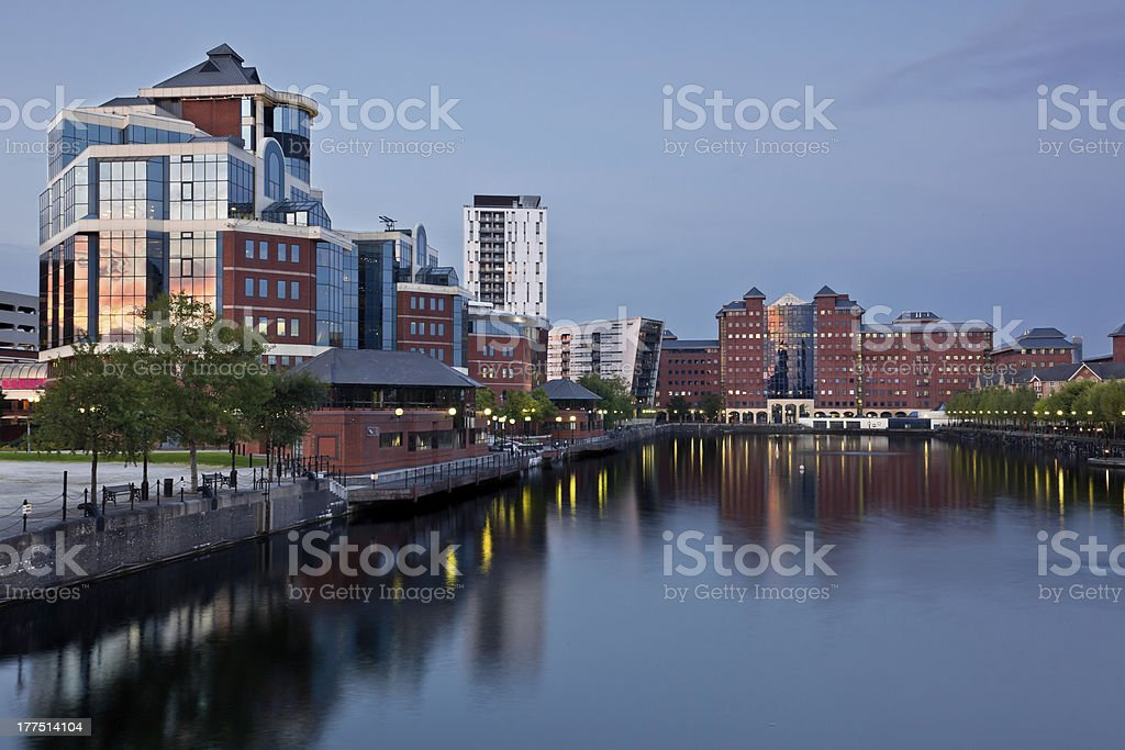 Salford quays stock photo