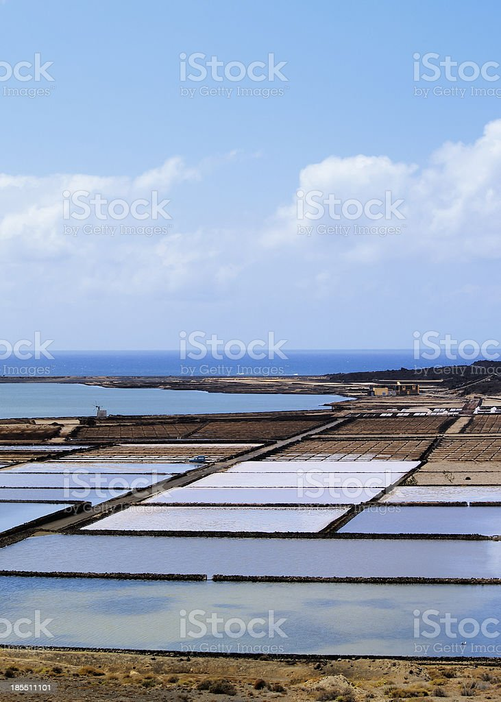 Salinas de Janubio, Lanzarote royalty-free stock photo